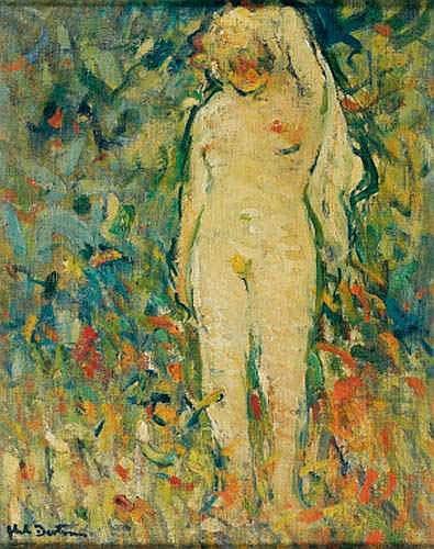 Abel BERTRAM (1871-1954) - Nu au drap blanc