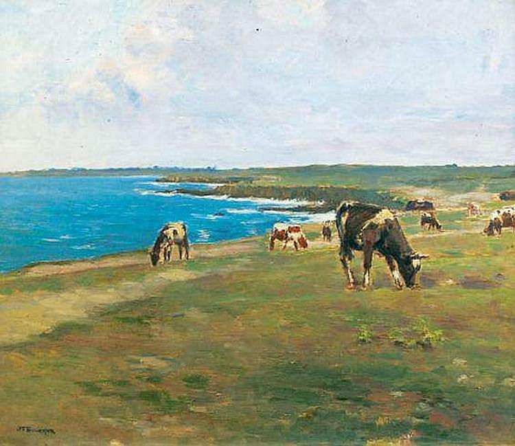 Joseph-Félix BOUCHOR (1853-1937) - Vaches au