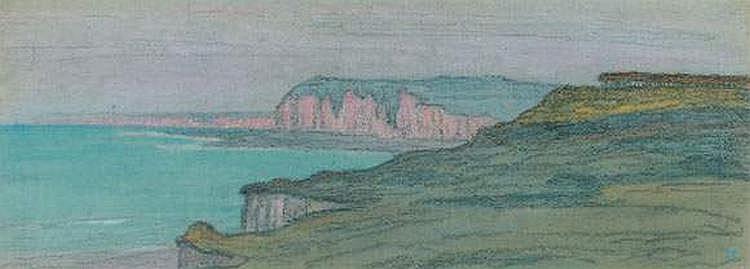 Jean-Francis AUBURTIN (1866-1930) - Falaises de