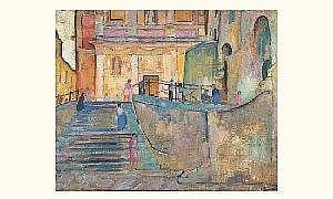 Willy Eisenchitz (1889-1974) - Street With Chin, 1921