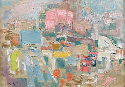 Alexandre GARBELL (1903-1970) Composition, 1957