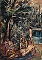 André FAVORY (1889-1937) Quatre baigneuses Huile, André Favory, Click for value