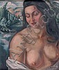 André FAVORY (1889-1937) Baigneuse au drapé blanc, André Favory, Click for value