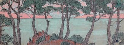 Jean Francis AUBURTIN (1866-1930) Cap Myrthe près
