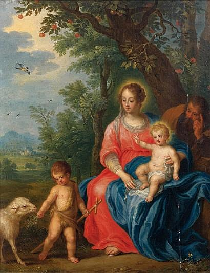 Attribué à Jan Van BALEN (1611-1654) La Sainte