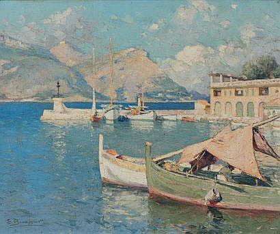 Émile BEAUSSIER (1874-1943) Port méditerranéen