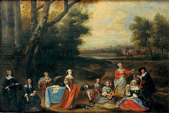 Attribué à Gonzales COQUES (1614-1684) - Réunion