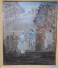 Alice FREY Huile sur toile, avec cachet d'atelier à l'avant et à l'arrière,