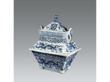 Blue and white dragon pattern ovens