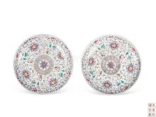 Pastel Floral disc one pair