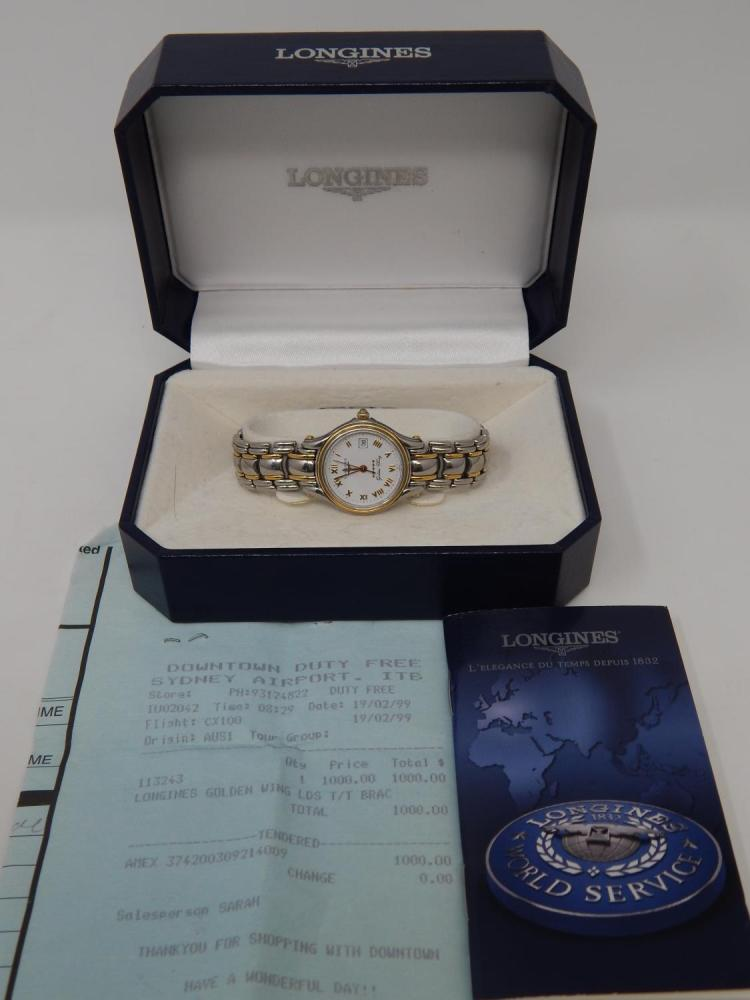 Longines Golden Wing Stainless Steel & 18ct Gold Watch