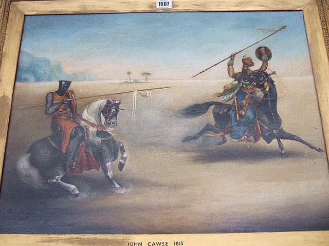 Attributed to John Cawse (1779-1862), A Crusader