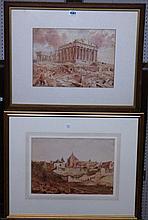 The Reverend John Louis Petit (1801-1868), A group of twelve watercolours,