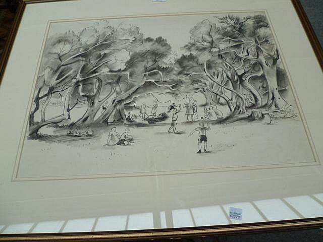 •Georg Mayer-Marton (1897-1960), Park scene,