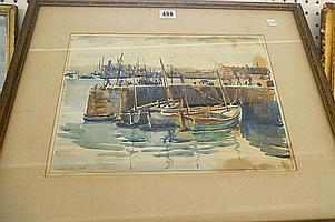 Gwen Whicker (1900-1966), Customs Quay, Falmouth,