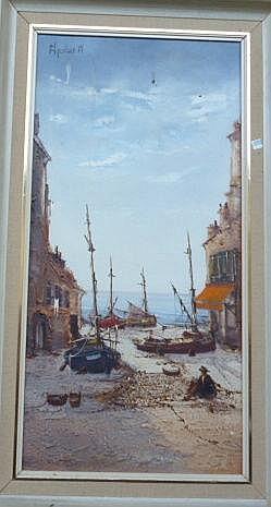 • Jorge Aguilar Agon (20th century), Beach scene