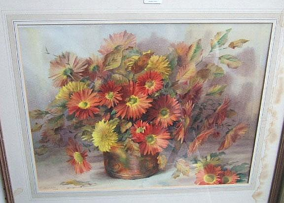 Jack Carter (20th century), Still life of flowers