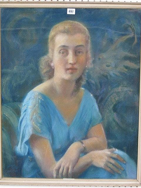 Gudmand Hentze (20th century), Portrait of a lady,