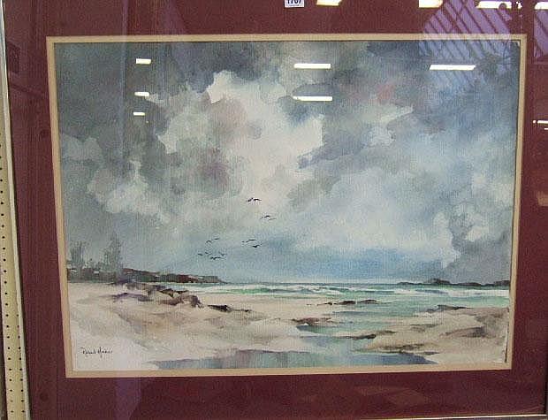 Robert Haber (20th century), Beach scene,