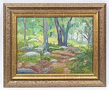 Antique American Impressionist Landscape