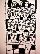 FERNAND LEGER - THE PEOPLE II - ORIGINAL LITHOGRAPH - 1955