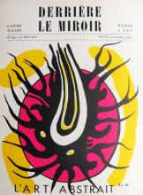 FERNAND LEGER - L'ART ABSTRACTION (COVER) DERRIERE LE MIROIR 20-21 - ORIGINAL LITHOGRAPH - 1949
