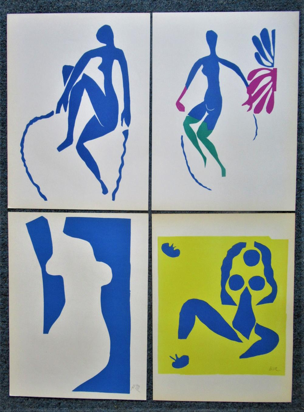 HENRI MATISSE - FOUR (4) ORIGINAL VERVE LITHOGRAPHS - SUITE # 2 - 1958