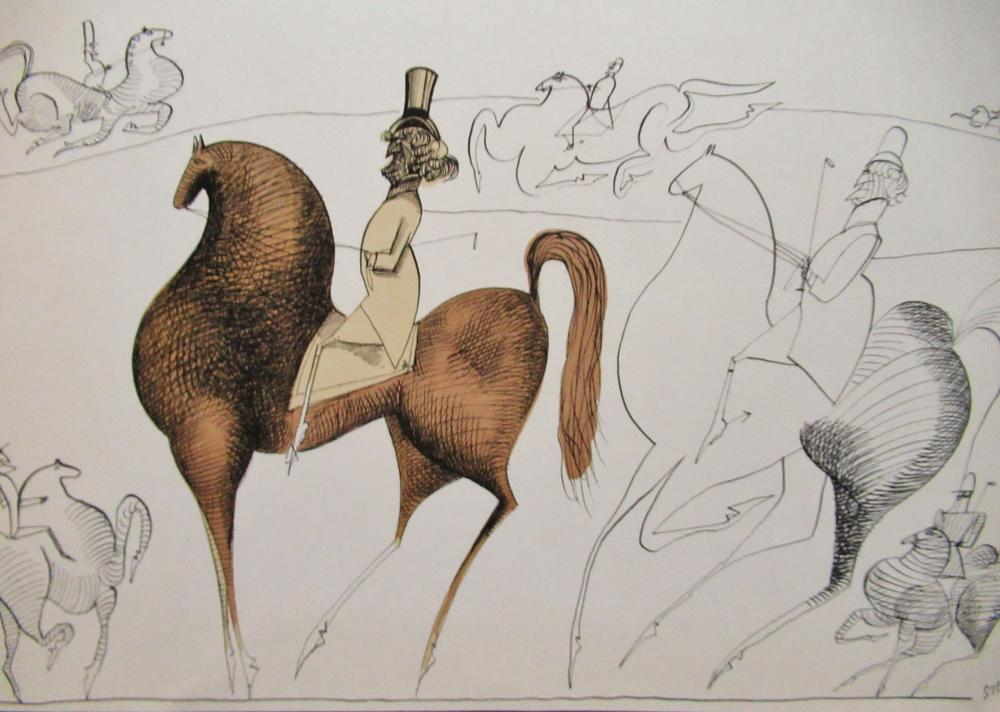 SAUL STEINBERG - THE EQUESTRIAN - LITHOGRAPH - 1953