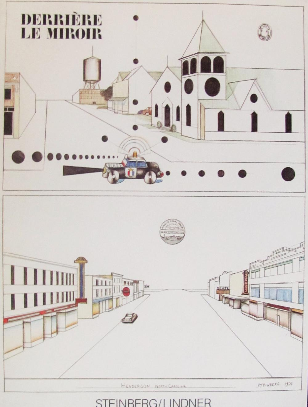 SAUL STEINBERG - DERRIERE LE MIROIR # 241 (COVER ONLY) - 1980