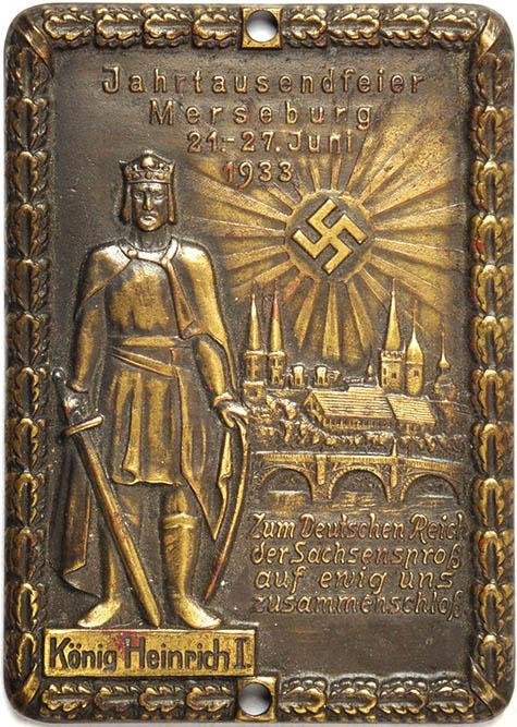 PLAKETTE JAHRTAUSENDFEIER MERSEBURG 1933