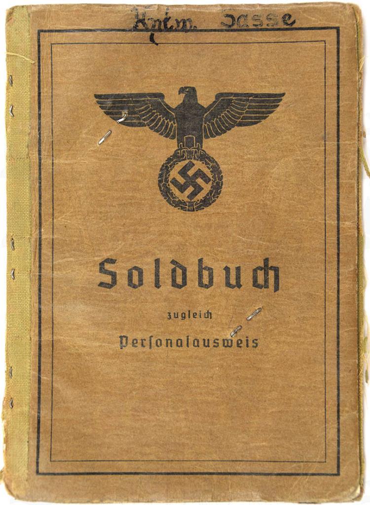SOLDBUCH EINES HAUPTWACHTMEISTERS
