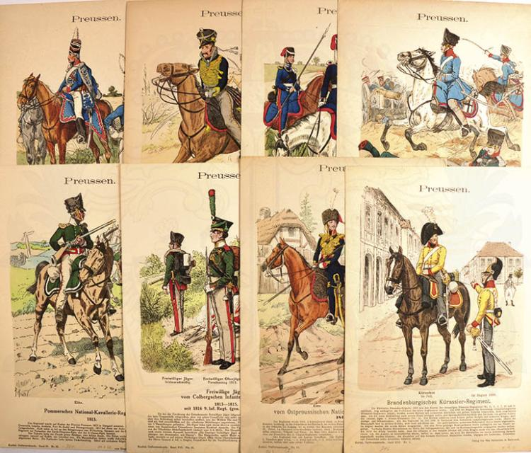 8 KNÖTEL-TAFELN PREUßEN 1802-1815
