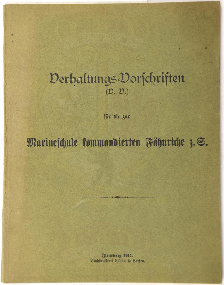 VERHALTUNGS-VORSCHRIFTEN (V.V.)