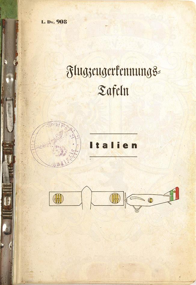 LDV 908 FLUGZEUGERKENNUNGS-TAFELN ITALIEN