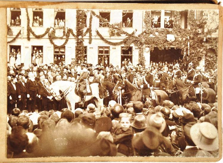 FOTOALBUM KAISERMANÖVER UM 1895