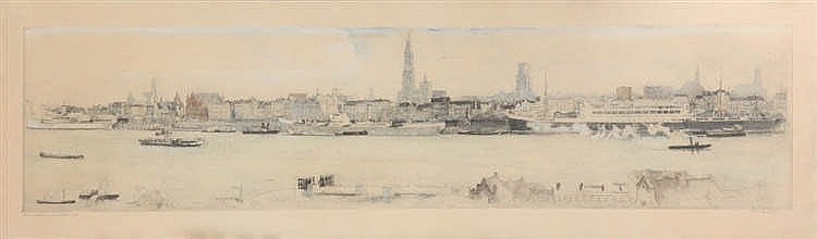 HENRI GEERTSEN (1892-1969) - Etching, heightened. Signed, dated, titled and with annotation in pencil. Framed.