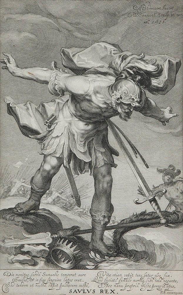 WILLEM I SWANENBURGH (1581-1612), naar/ after A. Bloemaert - Copper engraving. Framed.