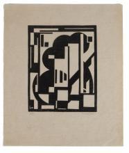 KAREL MAES (1900-1974) Zonder titel. Linosnede op kalkpapier. Gemonogrammeerd in het blok