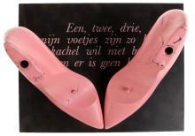 MARCEL VAN MAELE (1931-2009) 'Een, twee, drie' (1977). Multiple. Hout, beschilderd. Gemon