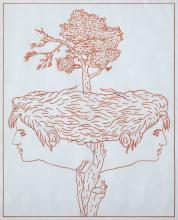 MARC EEMANS (1907-1998) Zonder titel. Rode viltstift,