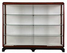DE COENE KORTRIJK circle Display cabinet. Mahogany veneer, partly ebon