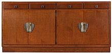 PAUL SMEKENS (1890-1983) circle Sideboard. Oak. Four doors and four dr