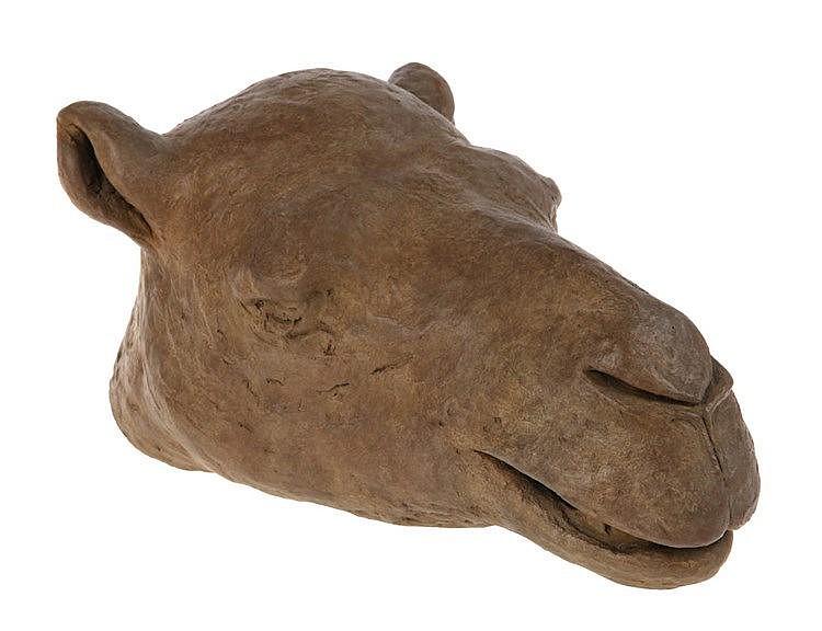 KEIKO YOSHIDA(1938) Camel head. Bronze, brown patina. Signed 'Keiko Yo