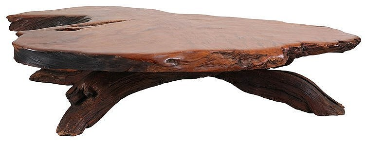 ANONYMOUS XX Coffee table, circa 1960. Primitive coffee table from Seq