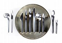 ARNE JACOBSEN (1902 - 1971) / ANTON MICHELSEN A 47 piece cutlery set f