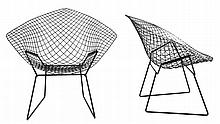 HARRY BERTOIA (1915-1978) / KNOLL INTERNATIONAL Pair of 'Diamond chair