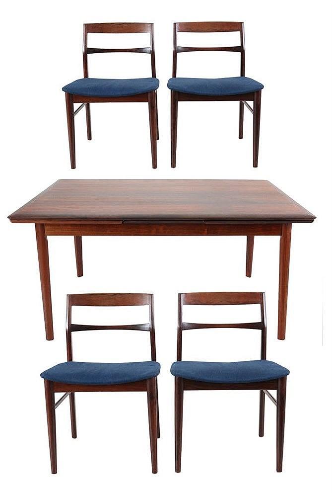 HENNING KJAERNULF (XX) / VEJLE STOLE Dining room garniture comprising