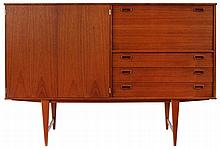 LEFÈVRE OMER XX / O.M.F. High sideboard, model Katwijk. Circa 1960. Te