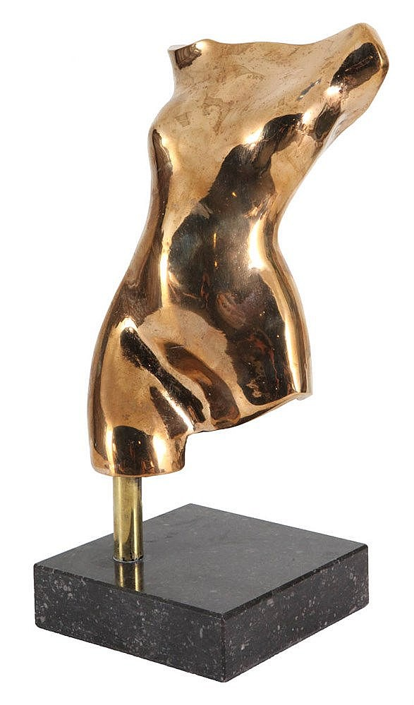 MICHEL Female nude. Polished bronze. Signed 'Michel'. N