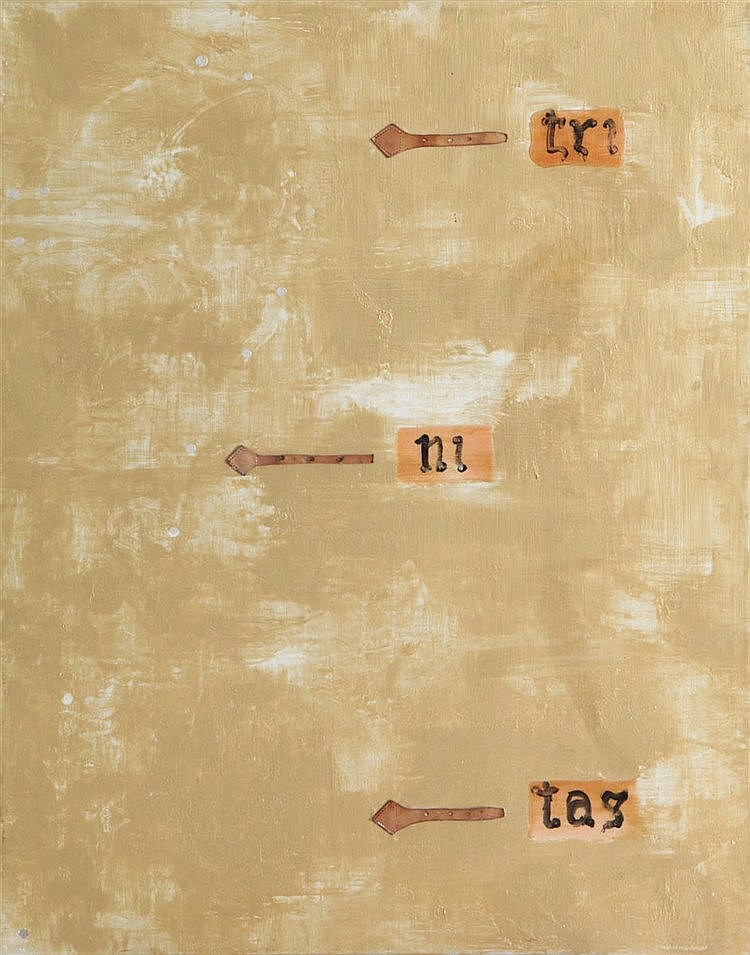 MARC MAET(1955) 'Trinitas' (1989) Canvas. Signed, dated and titled on